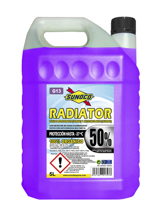 RADIATOR COOLANT G13 50% ORG