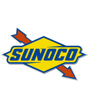 Rótulo logotipo Sunoco pared